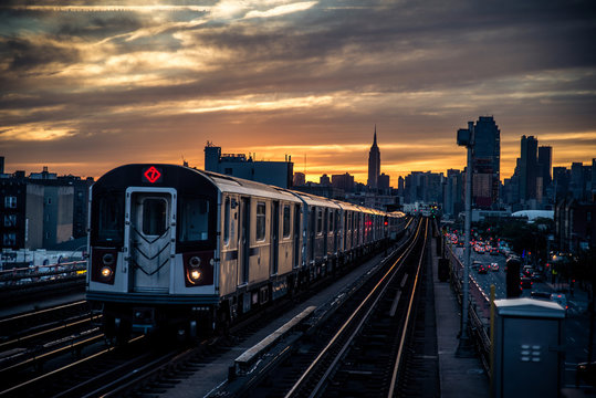 Subway train in New York