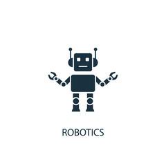 Robotics creative icon. Simple element illustration