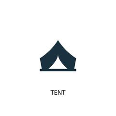 Tent creative icon. Simple element illustration