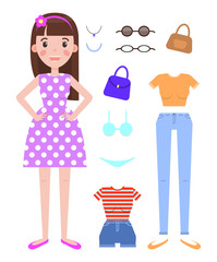 Woman Fashion Mode Constructor with Various Cloth