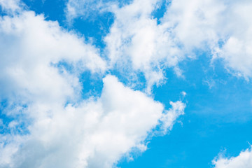 Beautiful blue sky with white clouds for background for background.