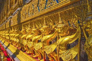 Garuda. Sculptures of the temple Wat Phra Kaew. thailand. Bangkok.