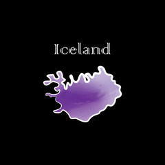 the iceland map w