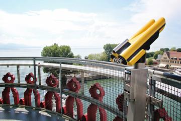 Binoculars in the Tower at Lindau, Germany