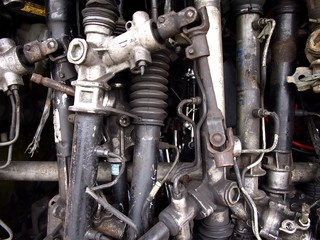 Assorted used car or automobile spare parts