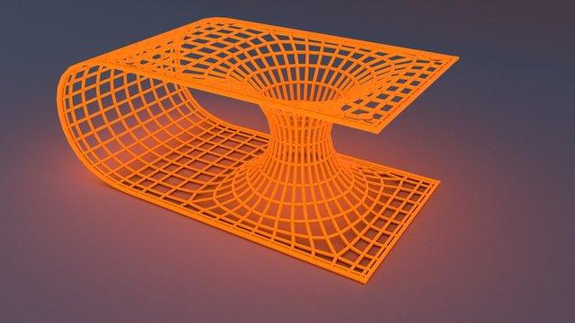 3D illustration of wormhole