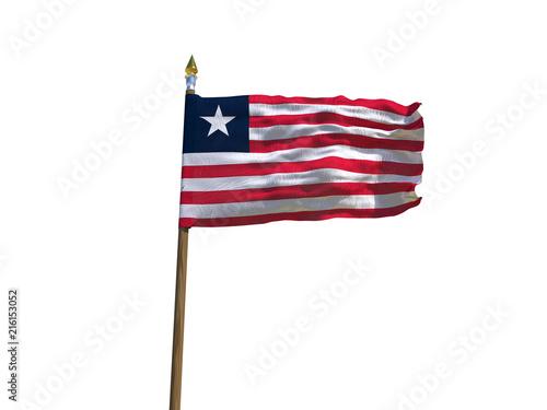Liberia flag Isolated Silk waving flag of Republic of