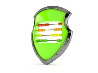 Protective shield with abacus