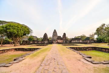 Beautiful photo of phimai thai ruins taken in thailand, Asia