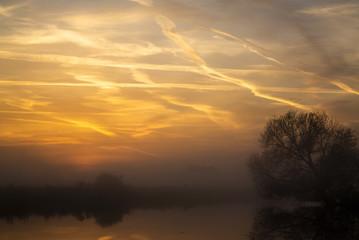 Sonnenaufgang im Teufelsmoor bei Bremen / Germany