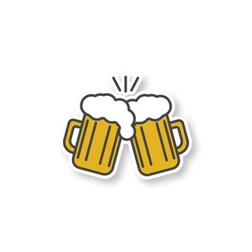 Toasting beer glasses patch