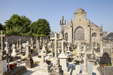 cemetery and church in brittany