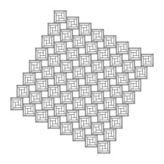 Struttura quadrati geometrico design vettoriale astratto forma linea arte illustrazione