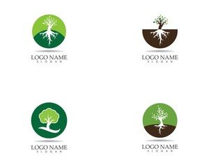 Trees icon logo vector illustration