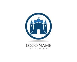 Castle logo design vector illustration