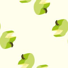 Pattern of green fresh apples, sweet fruit