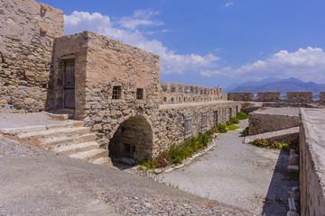 Intérieur de Forteresse Kales à Ierapetra en Grète - Grèce