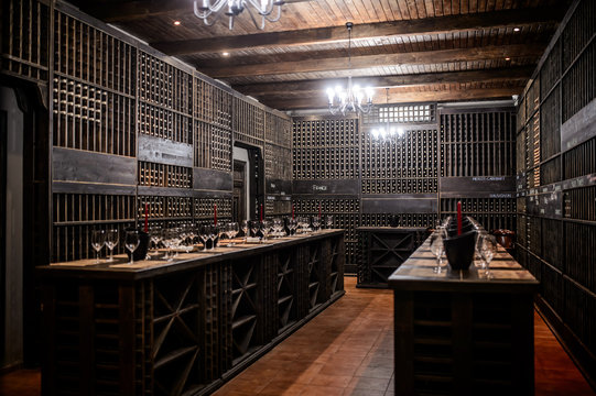 The wine room with a lot of buttles