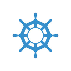 Handwheel icon. Sea steering wheel. Vector illustration isolated