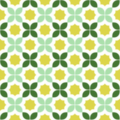 Seamless pattern in green and yellow