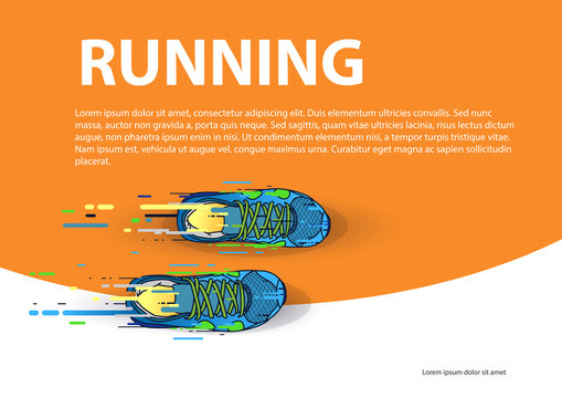 Sports poster running event