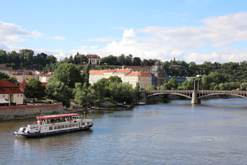 Amazing views of the Vltava River and its vicinities.