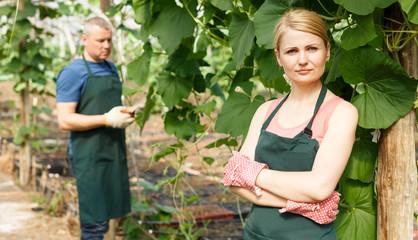 Successful female farmer