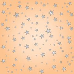 Pastel simple stars cute childish pattern, vector