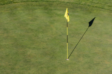 Flag and Hole in the Green ( Golf )