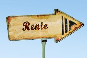 Schild 328 - Rente
