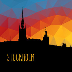 Stockholm skyline background illustration