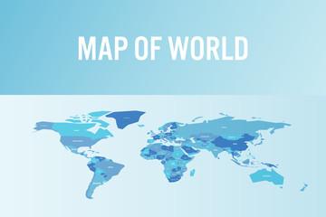 Foto op Plexiglas Wereldkaart World map in modern design. Vector illustration.