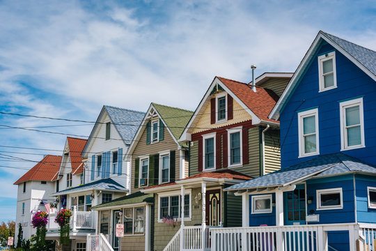 Houses on Bay Avenue in Somers Point, New Jersey.