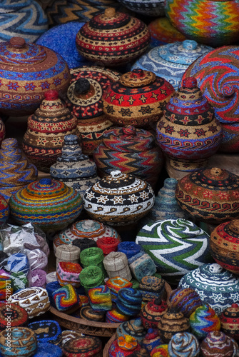 Balinese Beaded Baskets For Sale In Ubud Public Market Colorful And
