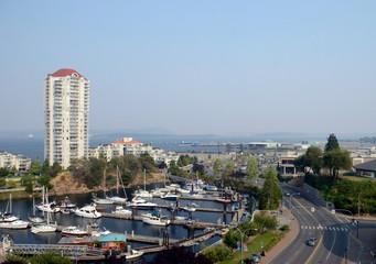 View of City of Nanaimo British Columbia Canada