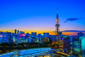夕暮れの名古屋