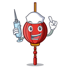 Nurse chinese lantern character cartoon