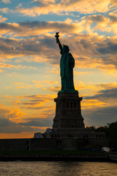 Statue of Liberty at Ellis Island in New York City
