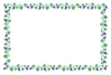紫色の葡萄 フレーム