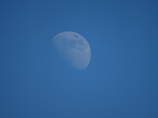 Moon in the day sky