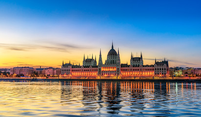 Hungarian Parliament Building by Morning Light
