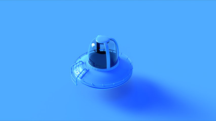 Blue UFO 3d illustration