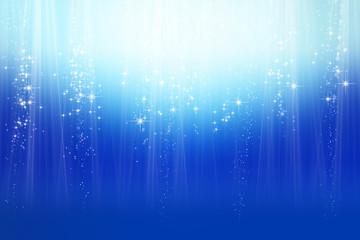 煌めく星とブルーの抽象的背景