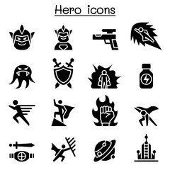 Hero icon set