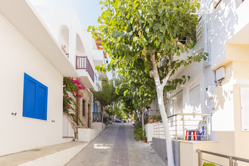 Rue à Myrtos en Crète - Grèce