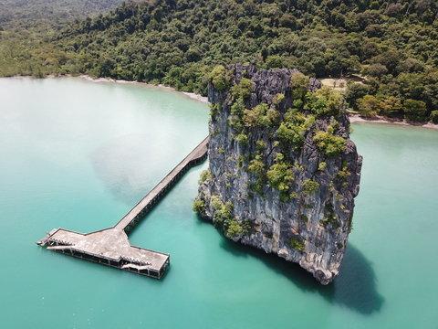 Magnificent rock in Koh Tarutao, Thailand
