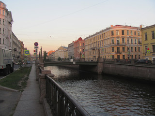 A walk along the rivers and canals of Petersburg, the landscape