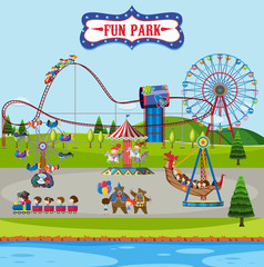 Fun park and rides