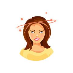 Girl with dizziness