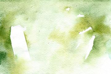 Watercolor green gradient background